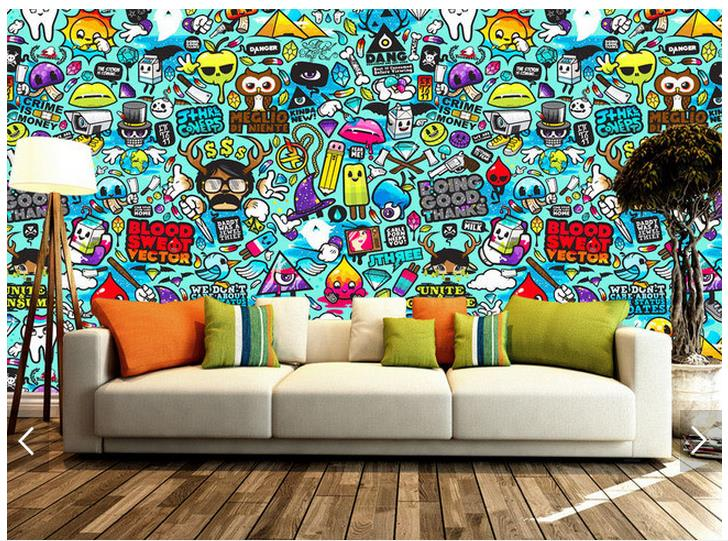 Aliexpress.com : Buy 3d Photo Wallpaper Custom 3d Wall Murals Wallpaper  Setting Wall Graffiti Hand Drawn Cartoons Wall Paper 3d Living Room  Wallpaper From ... Part 77
