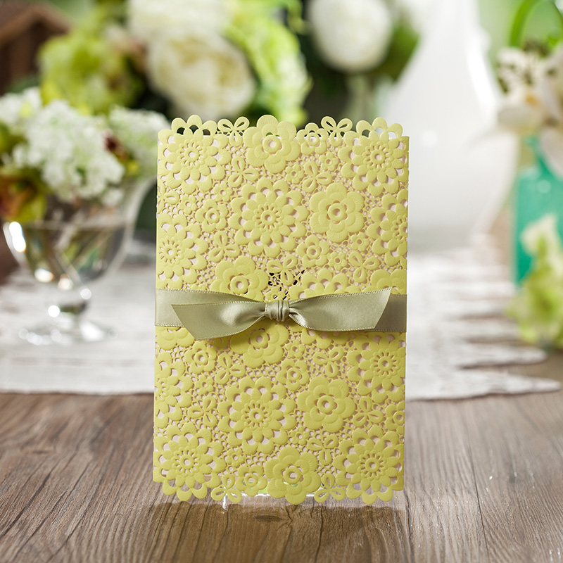 2015 Ba Lunsen wedding invitation fresh lemon green wedding ...