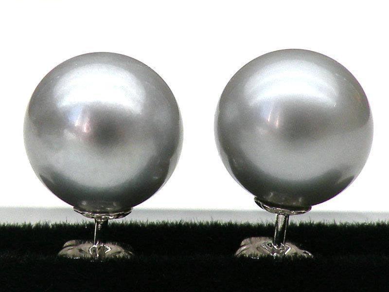 Livraison gratuite 8.5-9mm AAA + + + ronde argent gris mer du sud perle boucle doreille 925 en argent SterlingLivraison gratuite 8.5-9mm AAA + + + ronde argent gris mer du sud perle boucle doreille 925 en argent Sterling