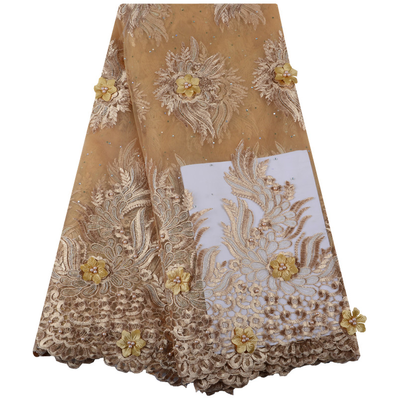 Best Selling 3D Lace Products Latest French Lace Fabric 2019 High Quality Africa Lace Fabric For
