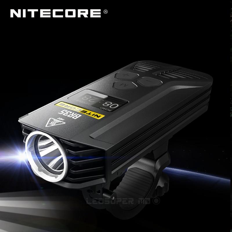 цена на New Arrival 2018 Nitecore BR35 CREE XM-L2 U2 LED 1800 Lumens Rechargeable Bike / Bicycle Front Light Built-in 6800mAh Battery