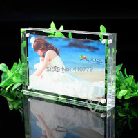 Acrylic Magnet Photo Frame 6 Inch 152x102mm 10 10mm Bedroom Decor Creative Crystal Picture Frame Can