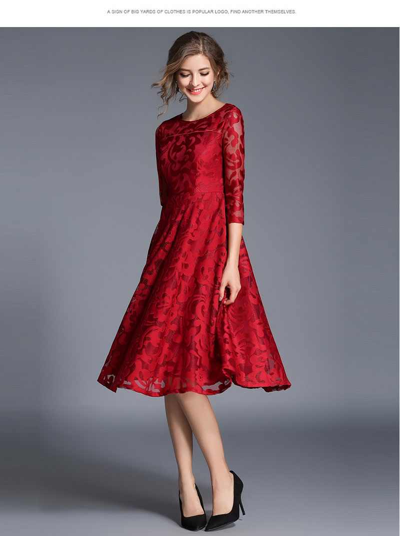 Borisovich New 18 Spring Fashion England Style Luxury Elegant Slim Ladies Party Dress Women Casual Lace Dresses Vestidos M107 10