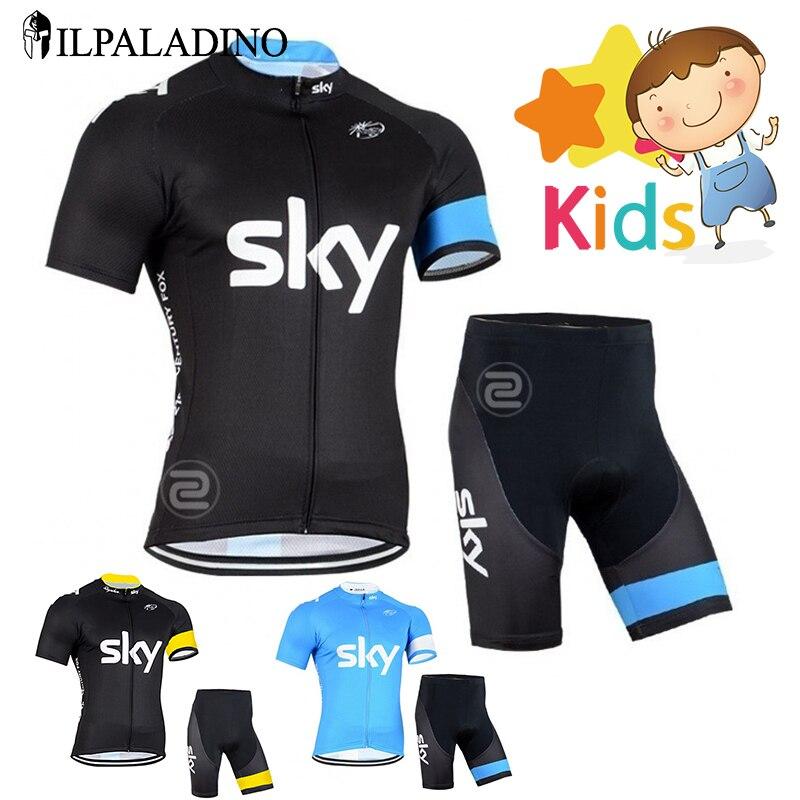 Цена за ILPALADINO Мальчики Pro Велоспорт Джерси Установить Ropa Ciclismo Велоспорт Комплект для Детей Дышащие Quick Dry Велосипед Одежда Детей