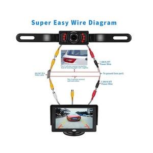 Image 5 - 7 luces infrarrojas sistema de pantalla de marcha atrás automático 4,3 pulgadas Monitor LCD Auto Pantalla de coche IP67 cámara de aparcamiento con Monitor