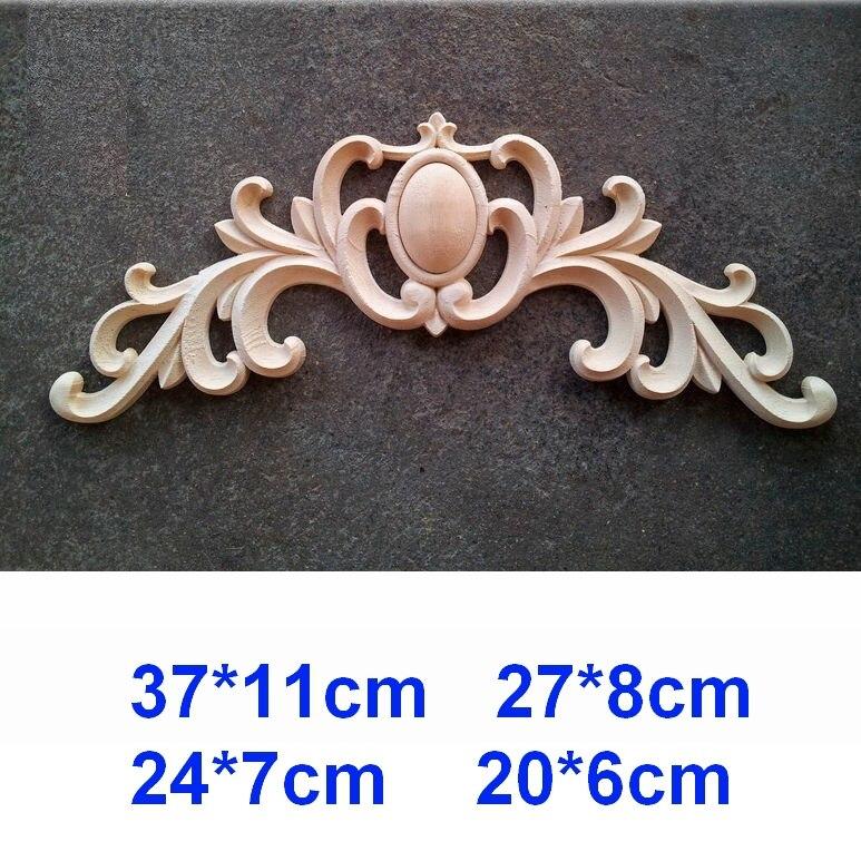 Dongyang wood carving applique motif shavings corner flower fashion patch home furniture decoration door deoration - HOHO'S STORE store