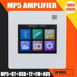 Image 2 - MP5 Player système de musique à domicile, système de haut parleurs de plafond, amplificateur numérique Bluetooth, amplificateur mural intégré avec écran tactile TFT LCD