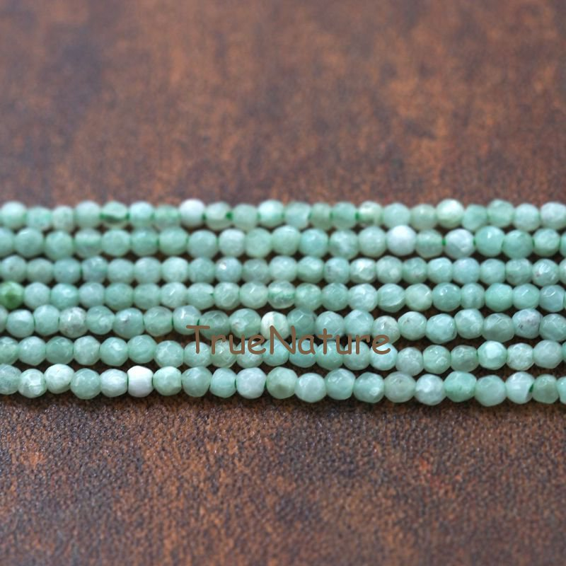 New Arrival Burmese Jades Petite Spacers Findings Round Faceted Burma Jades Tiny Beads In 3 mm BE6018