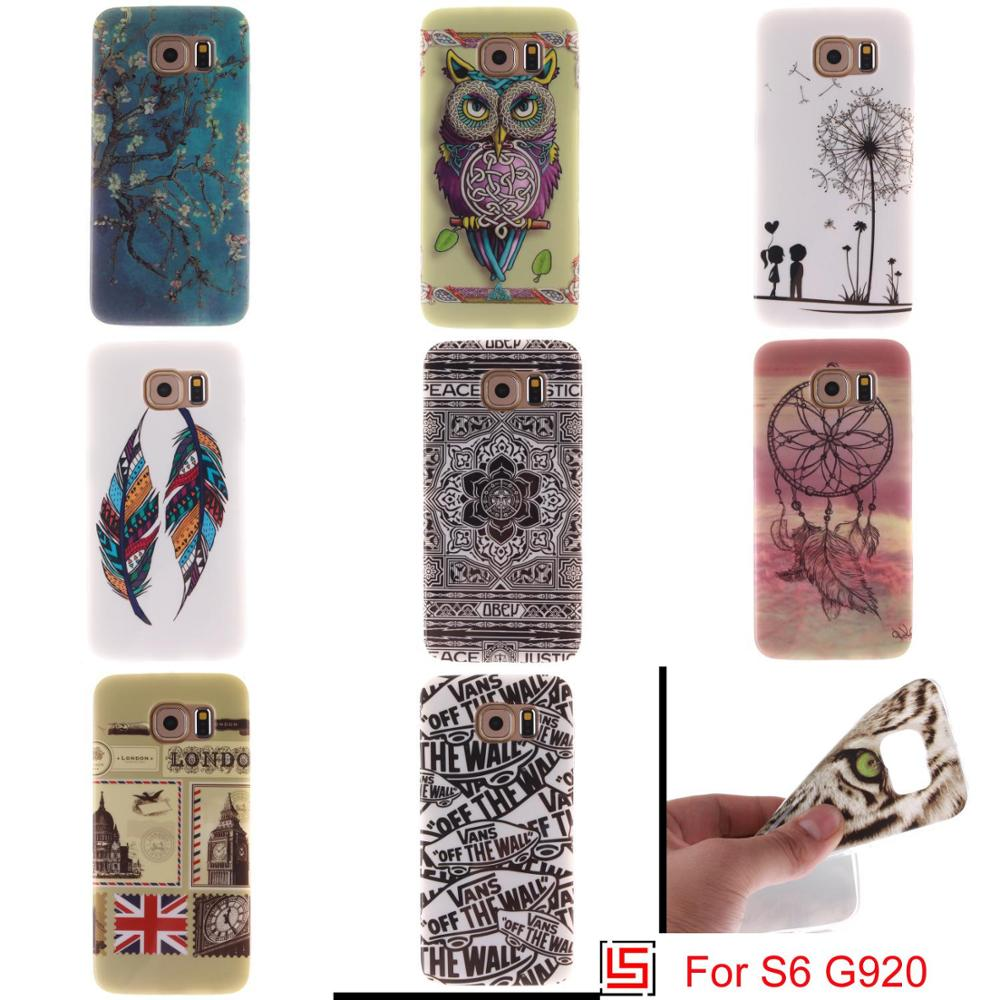 Ultra Thin TPU Silicone Soft Phone Cell Case etui kryty cubierta Cover Cove Bag For Samsung Samsu Galaxy Galaxi S6 SM G920