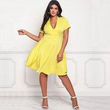 31d7e8257e9 2018 new Big Size Fat MM Woman Summer Dress Elegant Loose Short Dresses  Plus Size Women