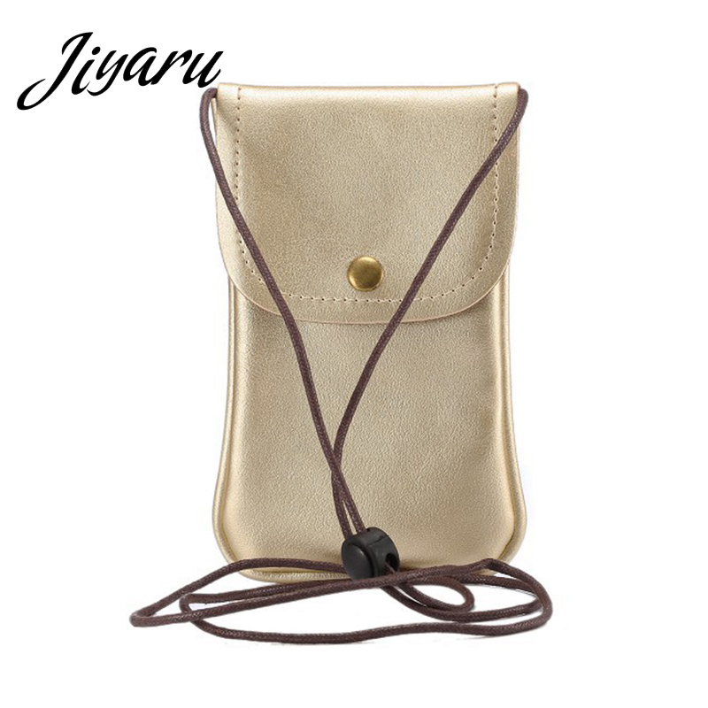 dd26c2bdaae4 Mobile Phone Bags Unisex Simple PU Leather Cellphone Pouch Mini Wallet Card Case  Female Casual Crossbody Purse Bag