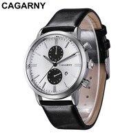 CAGARNY New casual 2019 Modern Fashion Black Quartz Watch Men Casual Watch High Quality Wristwatch Gift for men
