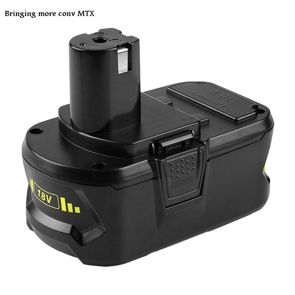 NOUVEAU 2 pcs/lot 4.0Ah/5.0Ah 18 v 5000 mah Li-Ion Rechargeable Batterie Pour Ryobi P108 RB18L40 P2000 P310 Pour ryobi BIW180 vente chaude
