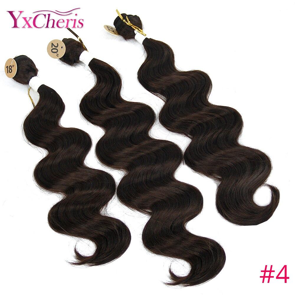 Hot Sale Synthetic Hair Extensions Brazilian Body Wave 3 Bundles