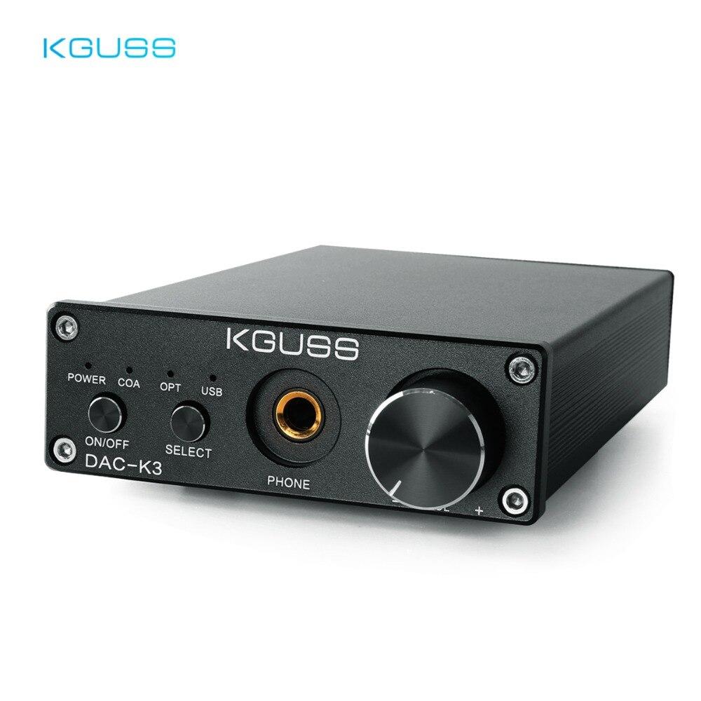 59c1a411ac3 KGUSS DAC-K3 TPA6120 2.0 MINI HIFI USB DAC Decoded Audio Headphone Amplifier  24BIT 192KHz OPA2134 AMP DC12V US/EU