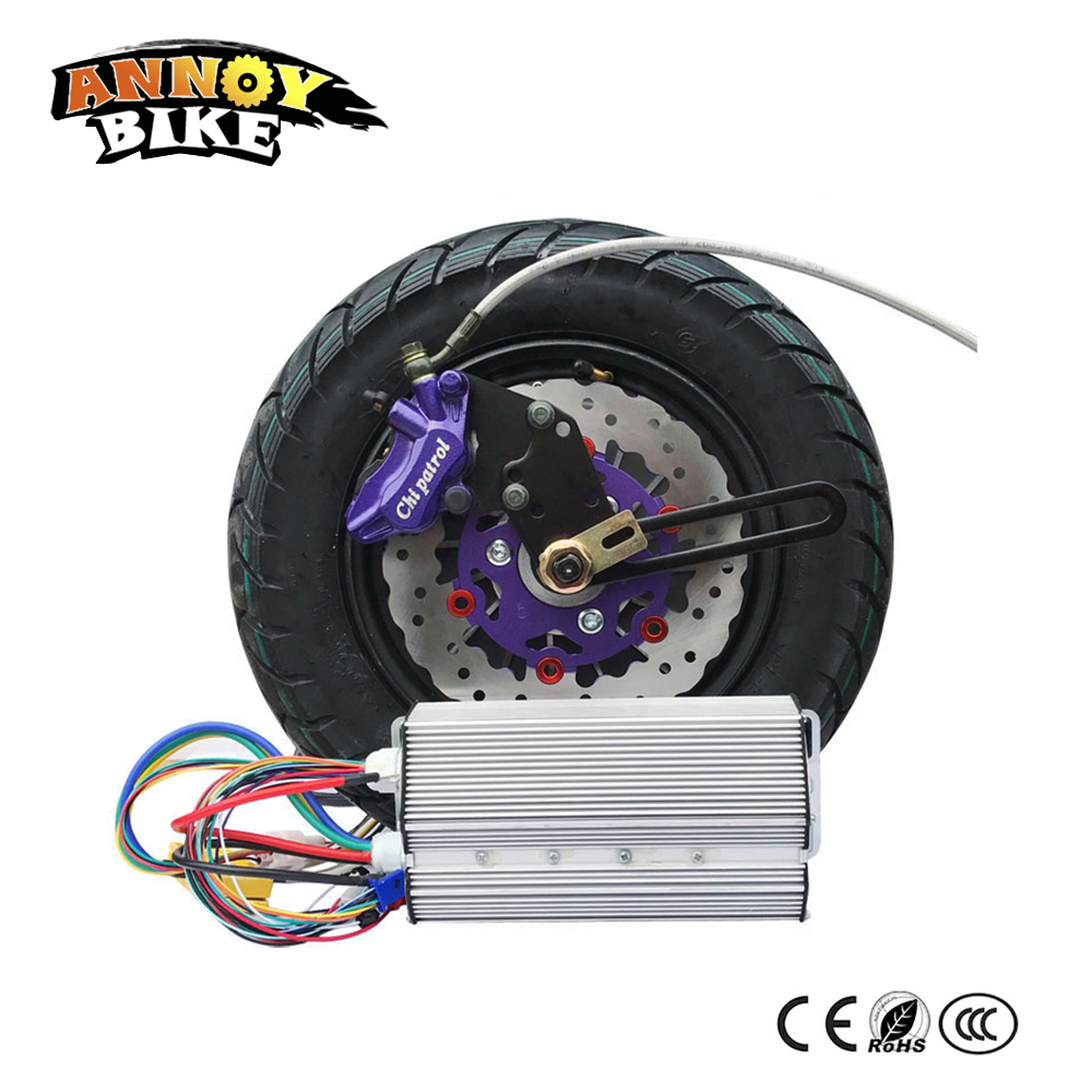 "60v72v 84v 96v 12 ""Rim 3000W 3kw Elektriskā rumbas motora riteņu komplekts elektrisko motociklu elektriskajam auto komplektam DIY Double Pump Disc Disc"