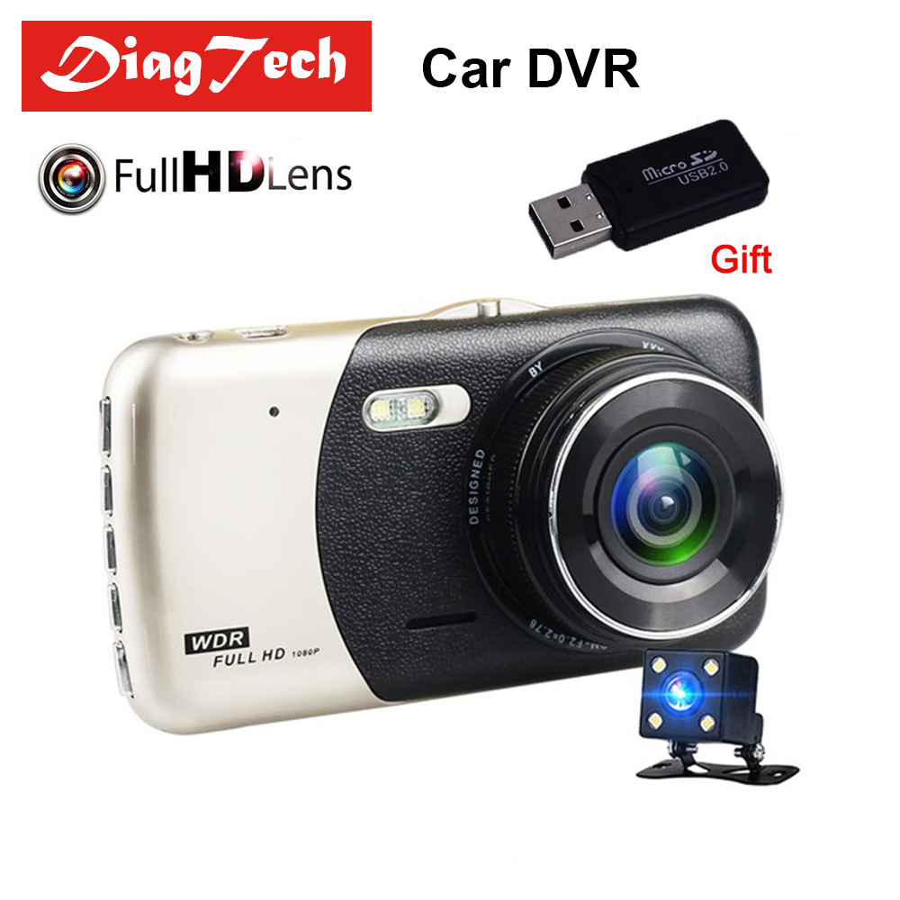 Gryan Car DVR Camera Dash Cam Dual Lens IPS 4.0 Full HD 1080P Video Recorder Registrator Night Vision Car Camcorder DVRs car camera car dvr wifi 1080p hd car dvrs night vision dash dual cam recorder rotatable lens wireless snapshot auto camcorder