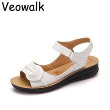Большой Размер 35-41 Летние Женщины Хорошие Кожаные Сандалии Старинные Дамы Плоские Sandials Лодыжки Ремень Моды Случайные Платформы Мягкие обувь