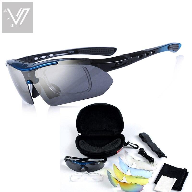 Polarisierte Sonnenbrille 5 Satz Wechselgläser Brillen Gafas Oculos - Bekleidungszubehör - Foto 2