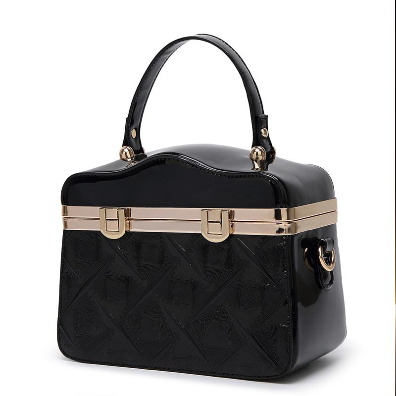 2018 Large Capacity Tote Crossbody Bags Patent Leather Shoulder Bag Ladies Bags Designer Handbags Women Frame Handbag chispaulo women genuine leather handbags cowhide patent famous brands designer handbags high quality tote bag bolsa tassel c165