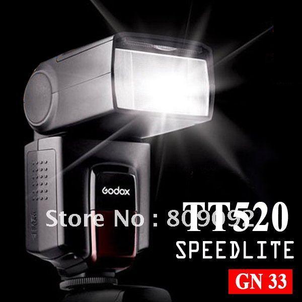 лучшая цена Godox TT520 Camera Electronic Flash Speedlite