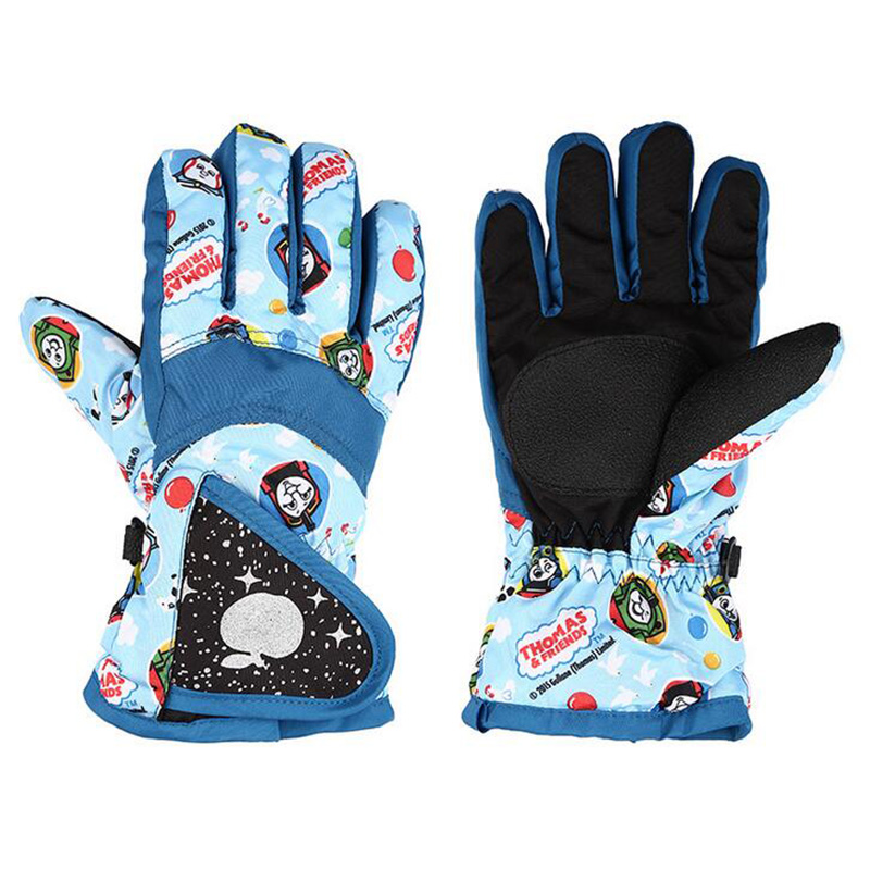Children's Snow Ski Gloves Winter Thickening Plus Cashmere Cotton Warm Boy/Girl Students Outdoor Sports Fitness Skiing Glove S16