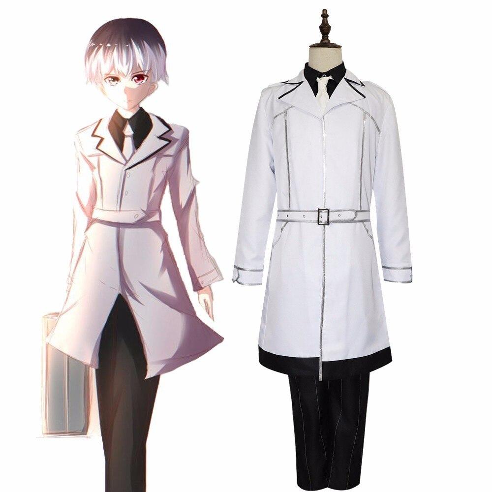 JP Anime Tokyo Ghoul Re Sasaki Haise Ken Kaneki Cosplay Costume Men Women Full Set White Halloween Party Uniform Wig