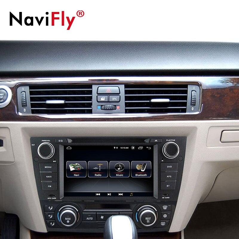 Lecteur multimédia dvd de voiture NaviFly Android 8.1 radio audio pour BMW/3 Series E90 E91 E92 E93 GPS Navigation BT RDS