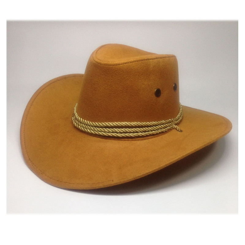 3fdb1575e US $7.03 12% OFF New 2018 Sun Hat Faux Leather Cowboy Hat Men and Women  Travel Caps Fashion Western Hats Chapeu Cowboy 9 colors YY0270-in Men's  Cowboy ...