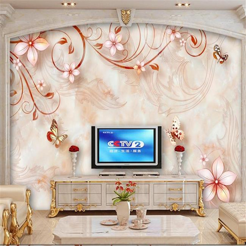 3D Custom Photo Wall Murals Florals Wallpapers White Flowers Leaf Luxury Walls Papers for Living Room Bedroom Home Decor Murals custom photo wallpapers for walls 3d modern non woven wall papers mural for bedroom living room home decor flowers oil painting