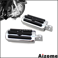 For Harley Touring Sportster Dyna Softail Highway Footrests Motorcycle Male Mount Footpegs 3 Slot Rear Front Foot Pegs