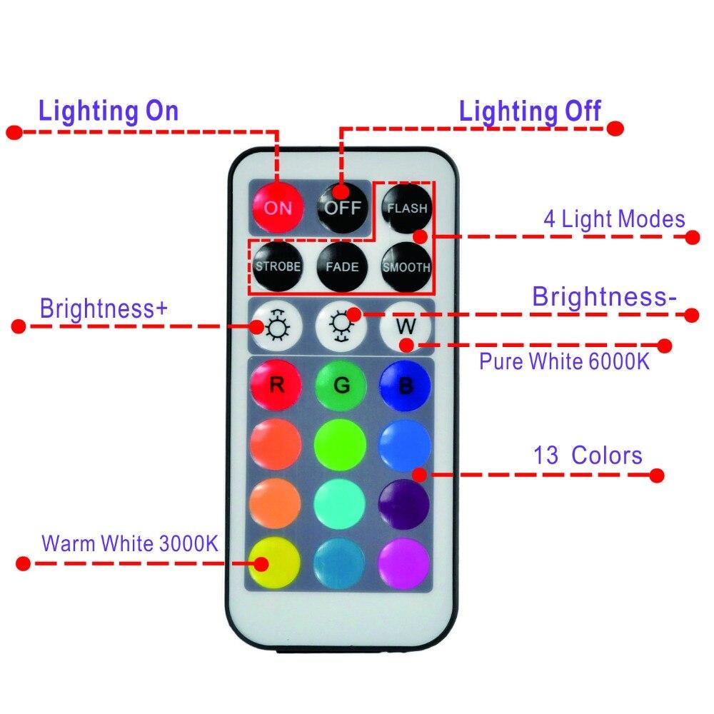 O diodo emissor de luz submersível ilumina