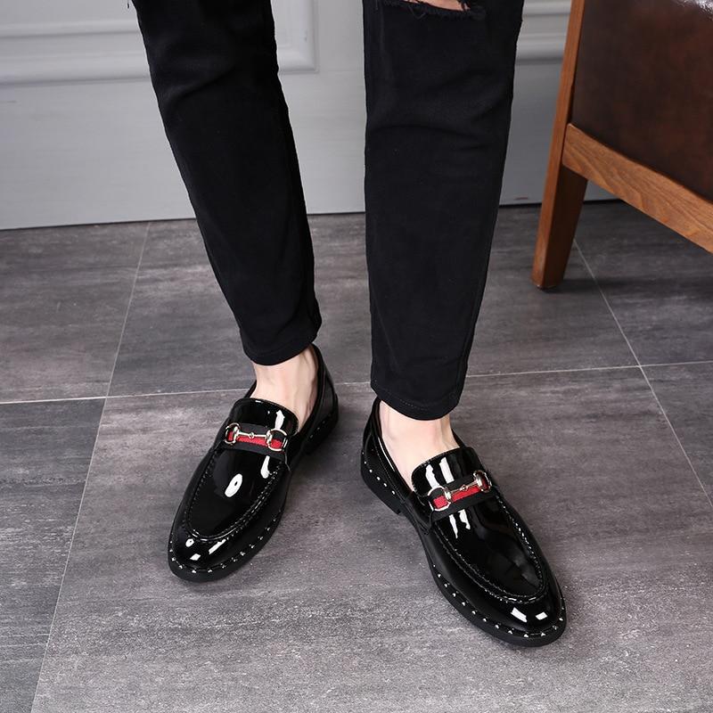 Le Nouveau Cuir Chaussures Jeune Noir gris En Petit Loisirs De Hommes PSFgaSnq
