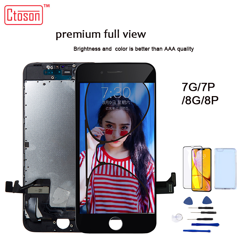 Ctoson  LCD Display For IPhone 6 7 8 3D Touch Screen Full View Replacement  LCDS For  IPhone 7 Plus  8 Plus  No Dead Pixel