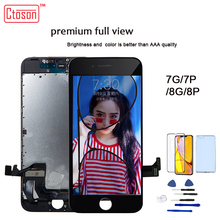 Ctoson LCD 디스플레이 아이폰 6 7 8 3D 터치 스크린 전체보기 교체 LCD 아이폰 7 플러스 8 플러스 아니 죽은 픽셀