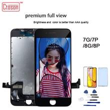 Ctoson Màn Hình LCD Màn Hình Dành Cho iPhone 6 7 8 3D Cảm Ứng Màn Hình Xem Đầy Đủ Thay Thế Màn Hình LCD Dành Cho iPhone 7 Plus 8 plus Không Chết Điểm Ảnh