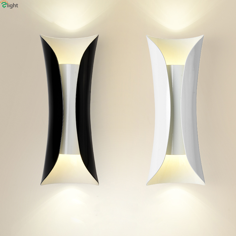 Modern Curved Metal Led Wall Lamp Bedroom Led Wall Light Living Room Led Wall Lights Fixtures Corridor Led Wall Sconce modern lustre chrome metal led wall lights creative wifi model crystal bedroom led wall lamp corridor led lighting light fixture