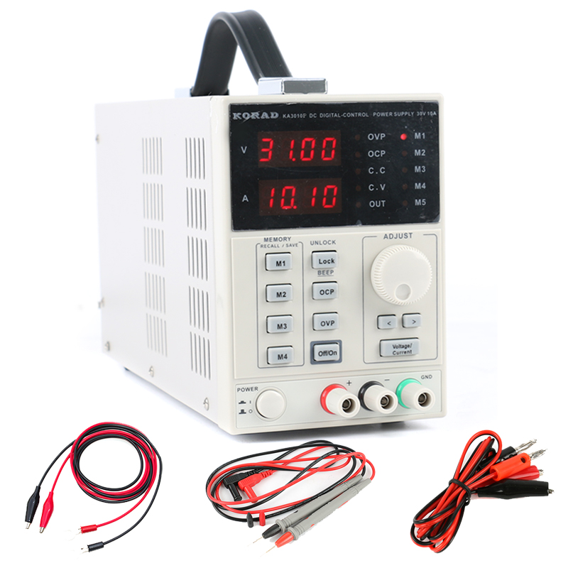 KORAD KA3010P High Precision Adjustable Digital Linear Programmable Switch DC Power Supply 30V 10A 0.01V 0.001A USB RS232 fast arrival hspy30v 10a dc programmable power supply output of 0 30v 0 10a adjustable rs232 port