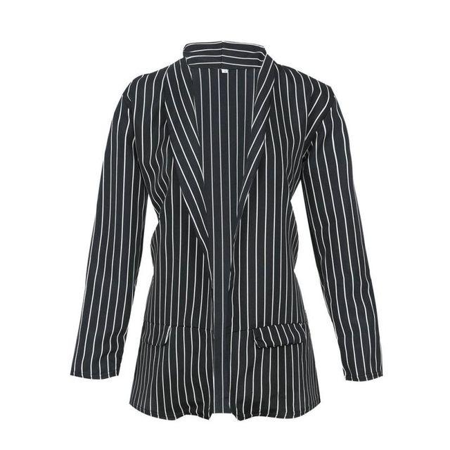 Z Autumn Long Sleeve Slim Fit Fashion Casual Blazers 2018 Office Lady striped Blazer Open Front Ladies Coat Women Formal Jackets 4