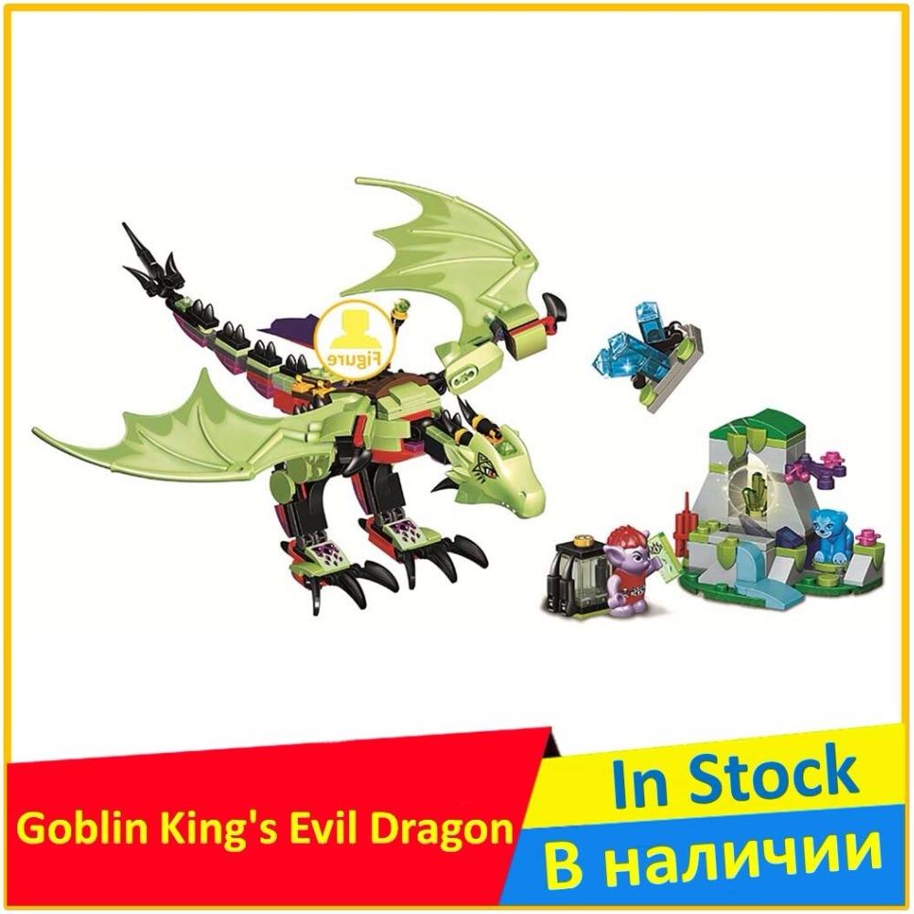 BELA The Goblin King's Evil Dragon 41183 Building Blocks Model Toys For Children 10695 Compatible legoing Elves Brick Figure ynynoo bela 10501 233pcs princess friend elves elvendale school of dragons model building kits blocks brick with 41173