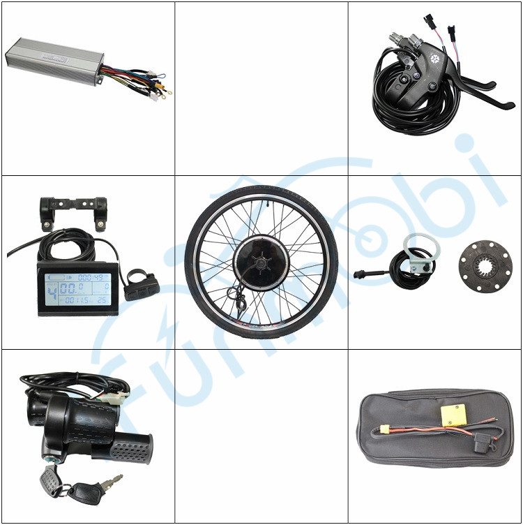 Electric Bicycle Conversion kits 36V 48V 1000W Ebike Motor Wheel Size 14 29 LCD Controller PAS Throttle Brake Lever bike