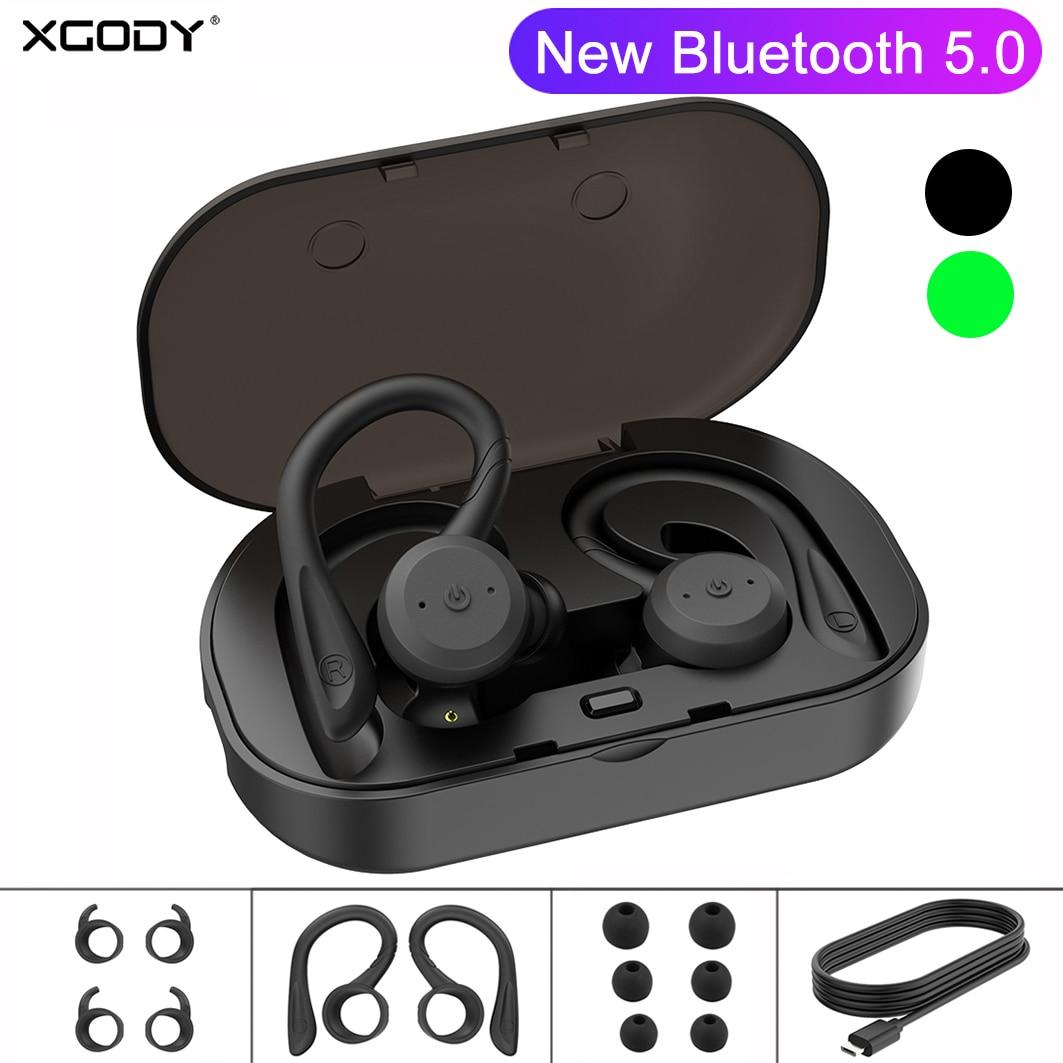 XGODY TWS BE1018 Fones de Ouvido Sem Fio Bluetooth 5.0 Fones de ouvido Com Cancelamento de Ruído Ativo fone de ouvido bluetooth Com Caixa de Carga