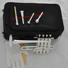 Профессиональный Серебряный пикколо-труба 4 поршневой Рог Bb/A 2 Leadpipe мундштук