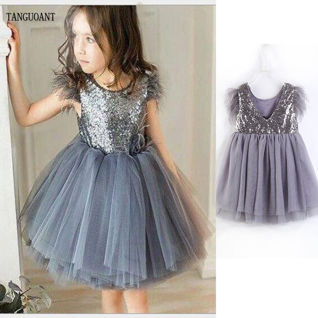 4e5e6f03af9bb US $13.02 30% OFF|Baby Girl Sequin Party Dresses Backless Girl Princess Kid  Clothes Party Dress Children Clothing Sleeveless Tassel Tulle -in Dresses  ...