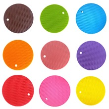 1pc Honeycomb Silicone Round Non Slip Heat Resistant Mat Coaster Cushion  Placemat Hot Pot Holder