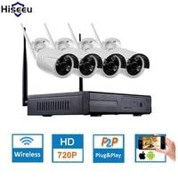 Hiseeu 4CH CCTV System Wireless 960P NVR WIFI IP Bullet Camera Home Security System Surveillance Kit
