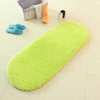 NiceRug Modern Decorative Carpet Skid Resistance Mat Door Floor Mat Solid Green Oval Soft Fluffy Rug Carpet Mats for Bedroom
