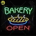 Boulangerie ouverte avec tarte néon enseigne néon ampoules signe emblématique Bar à bière Pub Club lumière lampes signe affichage annonce enseigne lumine
