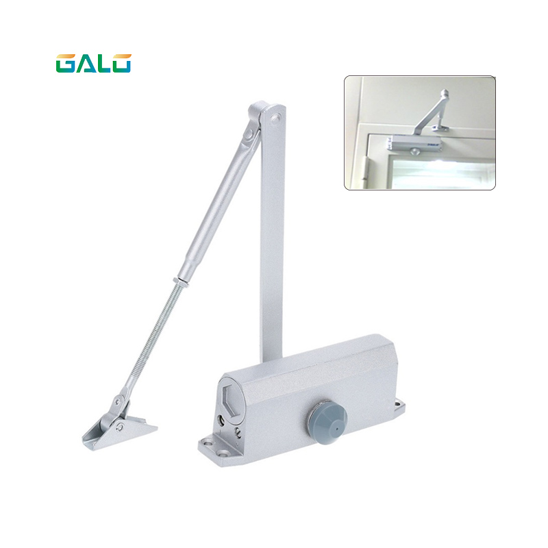Automatic Door Closers Security System Adjustable Closing/Latching Speed Aluminium for Left and Right Hand Doors practical stainless buffer door closer adjustable closing latching automatic door security system hand doors 25 45kg