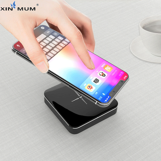 XIN-MUM QI Wireless Power Bank 20000mah Dual USB Output Pocket Portable Battery for iPhone Samsung Huawei Xiaomi LG